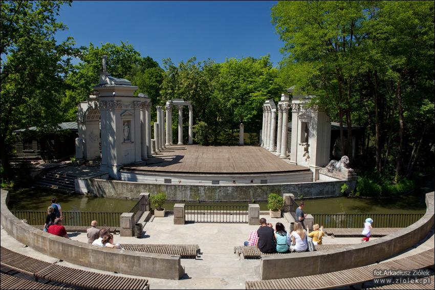 Teatr na wyspie, Łazienki Królewskie - Amfiteatr