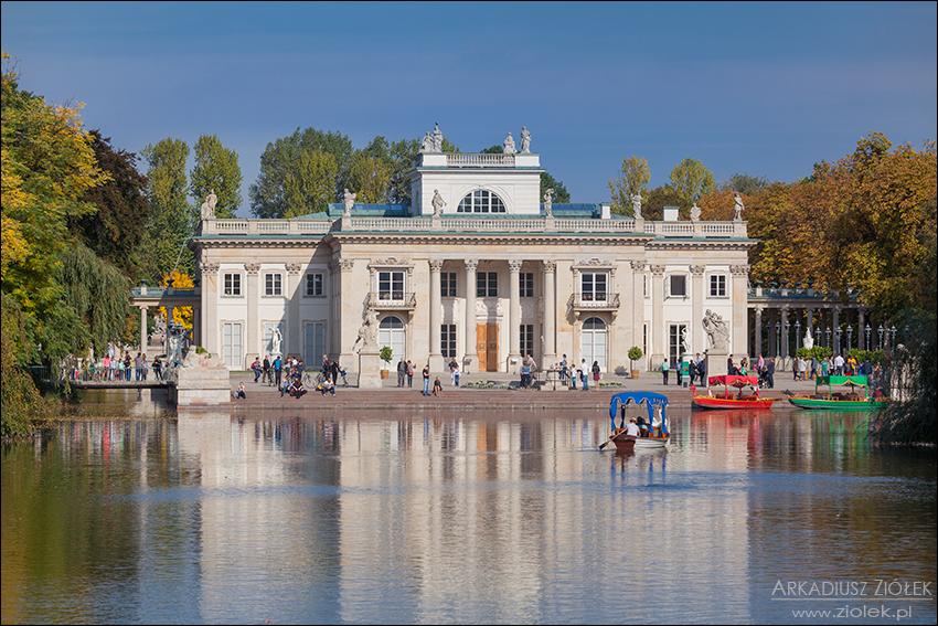 Pałac Na Wyspie łazienki Królewskie W Warszawie Fotografie